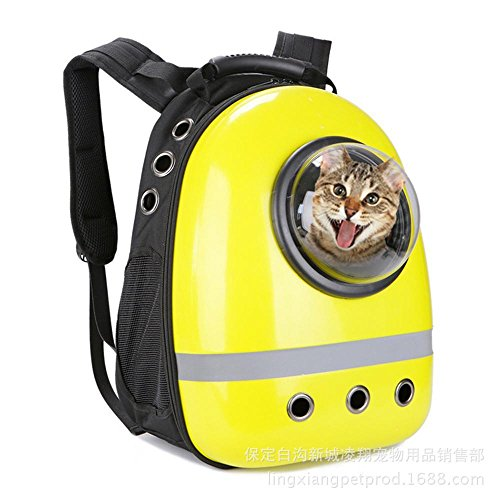 Dixinla Pet Carrier Backpack ABS Space Module Backpack Portable pet dog luggage cat Cage, ()