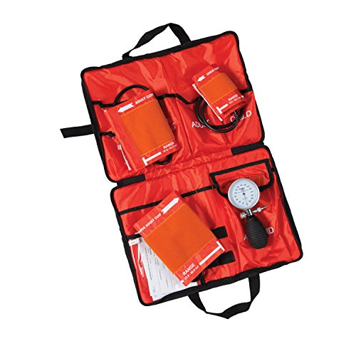 MABIS Medic-Kit3 EMT and Paramedic First Aid Kit with 3 Calibrated Nylon Blood Pressure Cuffs, Orange by MABIS DMI Healthcare