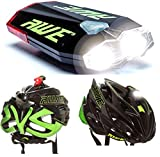 AWE AWEDual 360° USB Rechargeable Bicycle Twin Helmet Light Front/Rear 40 Lumens