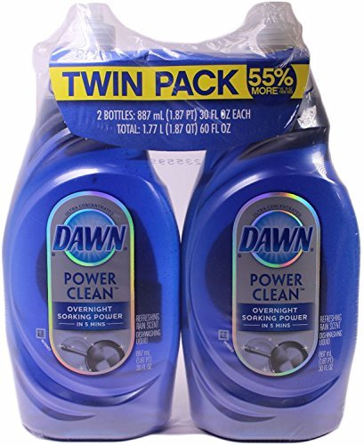 Dawn Platinum Power Clean Refreshing Rain Scent Dishwashing Liquid (30 ounce Twin Pack) by Dawn