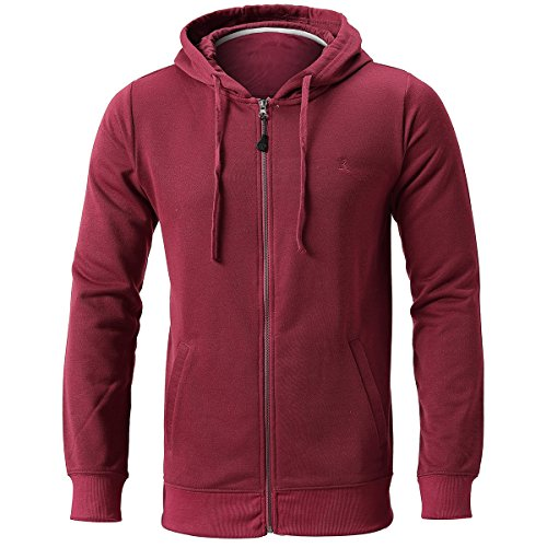 INFLATION Men's Zip-up Hoodie Long Sleeve French Terry Lightweight Basic Zip-up Hoodie Jacket 8 Color Choices by INFLATION