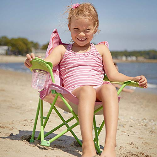 Melissa & Doug Bella Butterfly Child's Outdoor Chair (Easy to Open, Handy Cup Holder, Cleanable Materials, Carrying Bag, Great Gift for Girls and Boys - Best for 3, 4, and 5 Year Olds)