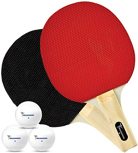 Review Of Brookwood Supplies Table Tennis Set - Ping Pong Paddles, 1 Star Balls - Double-Sided 5 Ply...