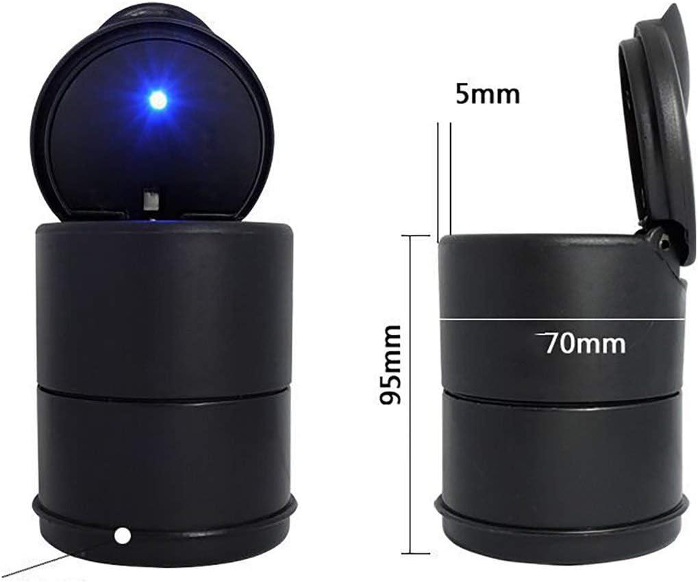 Ballylelly Cendrier Noir pour Voiture avec cendriers avec couvercles et cendrier avec bo/îte de Rangement d/étachable