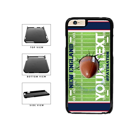 BleuReign(TM) Personalized Custom Name Cracked New England PATSNATION Football Team License Plate Plastic Phone Case Back Cover For Apple iPhone 6 6s (4.7 Inches Screen)