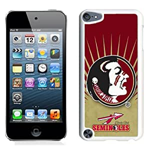 Customized Ipod 5 Case with NCAA Atlantic Coast Conference ACC Footballl Florida State Seminoles 2 Protective Cell Phone Hardshell Cover Case for Ipod 5th Generation White