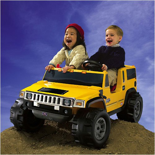amazoncom little tikes yellow hummer h2 battery operated toys games
