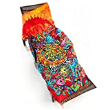 Rectangle Beach Towel Tassel Towel - GreForest Thin Rayon Cotton Tassel Towels Red Sun Flower Beach Towels Eye-catching Beach / Daily Wrap Shawl For Decoration, Beach Leisure, Picnic Mat, Tablecloth