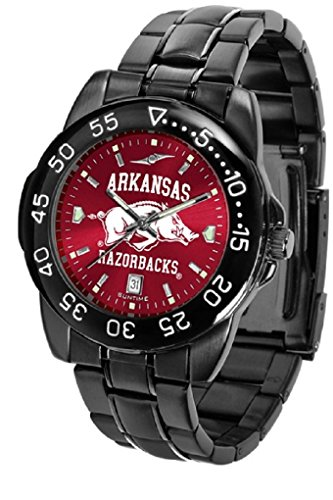 Collegiate Fantom Sport Anochrome Premium Mens Watch with gunmetal band (Arkansas)