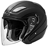 open face helmets for motorcycles - GLX Open Face Scooter Chopper Pilot Moped Vespa Motorcycle Helmet 3/4 Dual Visor DOT Approved + Extra Shields (Matte Black, X-Large)