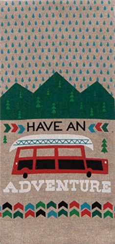 (Kay Dee Designs Have an Have an Adventure Camping Chambray Tea Towel)