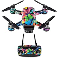 Skin for DJI Spark Mini Drone Combo - Butterfly Party| MightySkins Protective, Durable, and Unique Vinyl Decal wrap cover | Easy To Apply, Remove, and Change Styles | Made in the USA