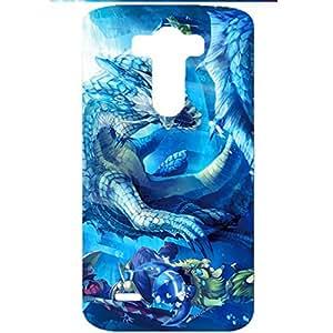 Dreamlike Blue Background Monster Hunter Phone Case Stylish Phone Cover for LG G3