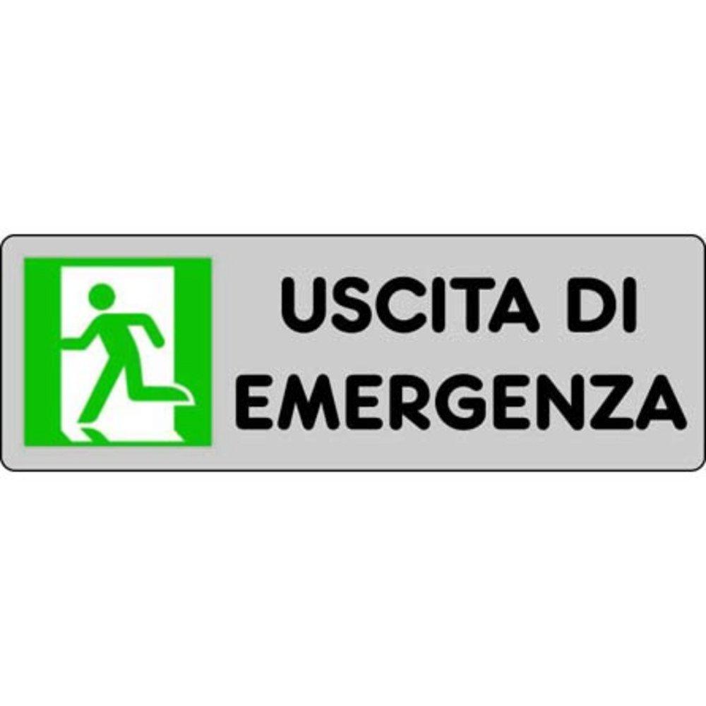 Cartel adhesivo cm 15x5 Salida de emergencia: Amazon.es ...