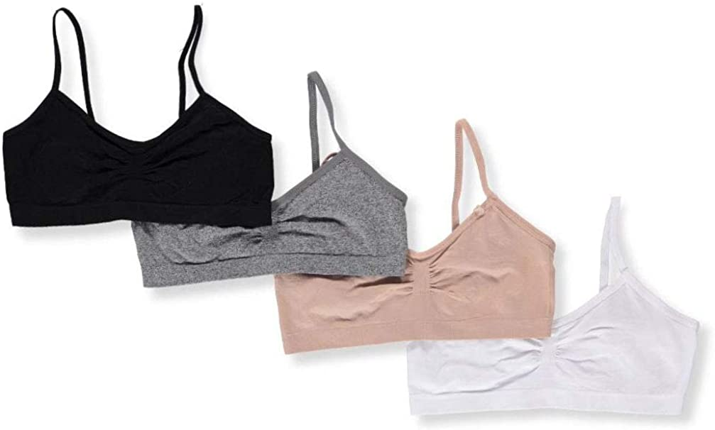 Marilyn Taylor Girls 4-Pack Seamless Bras