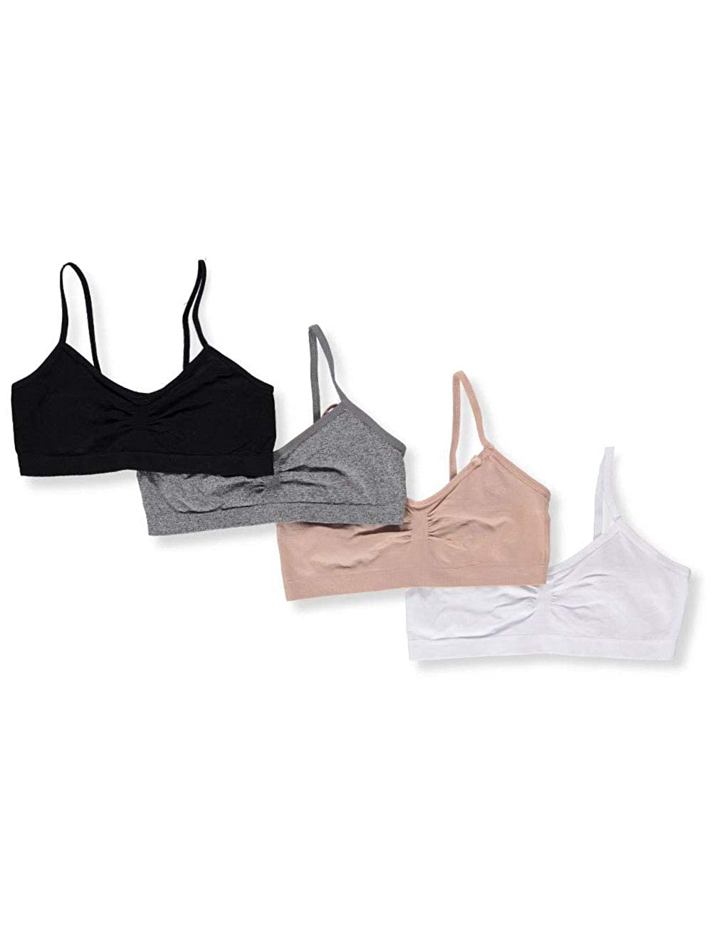 Marilyn Taylor Girls' 4-Pack Seamless Bras