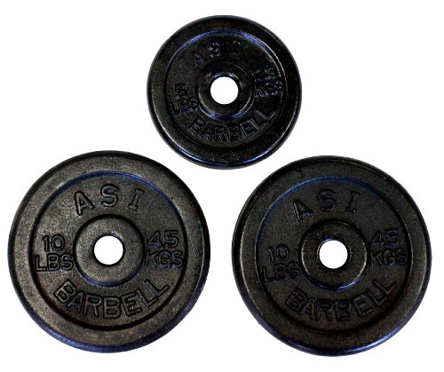 Ader Regular Black Weight Plates (10lb, 5lb) pair of each
