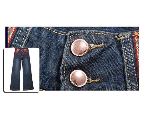 Azul De Cremallera Para Jeans Con Ajustados Mujer Cintura Oudan Alta wIPzqg1CPx
