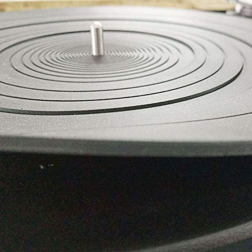 Turntable Platter Mat Rubber 12 inch Silicone Turntable LP Slipmat Universal Compatible for Audio Technica AT-LP120BK AT-LP-1200 Turntable Platter (12 Inch Diameter)