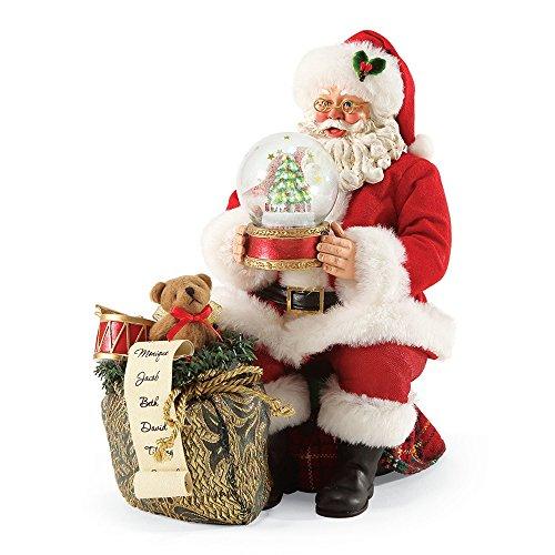 "Department 56 Possible Dreams Santa Claus ""Let It Snow"" Clothtique Christmas Figurine - Santa Wind Up Musical Figurine"