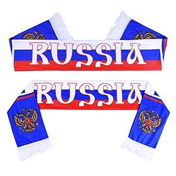 c35d582ffb47 Hemore Foulard Echarpe Coupe du Monde 2018 Russie de Football Drapeau  National Russia Fan de Football