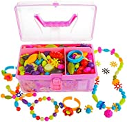 Gili Pop Beads, Jewelry Making Kit for 4, 5, 6, 7 Year Old Little Girls, Arts and Crafts Toys for Kids Age 4yr