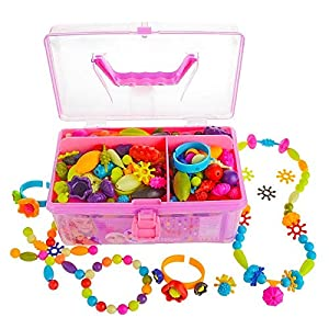 Best Epic Trends 51cciDcPWnL._SS300_ Gili Pop Beads, Jewelry Making Kit for 4, 5, 6, 7 Year Old Little Girls, Arts and Crafts Toys for Kids Age 4yr-8yr…