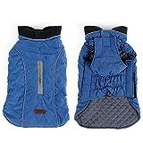 ZEEY Dog Coat Vest XS-XXXL Windproof Warm Dog Clothes Retro Design Cozy Winter Dog Pet Jacket Vest Warm Pet Outfit 6 Clothes Colors (XXXL, Blue)