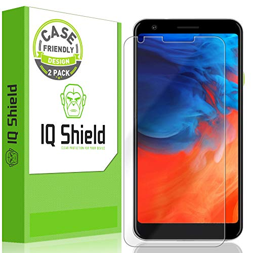 IQ Shield Screen Protector Compatible with Google Pixel 3a XL 6 inch (2-Pack)(Case Friendly) LiquidSkin Anti-Bubble Clear Film (Best Google Pixel 2 Xl Screen Protector)
