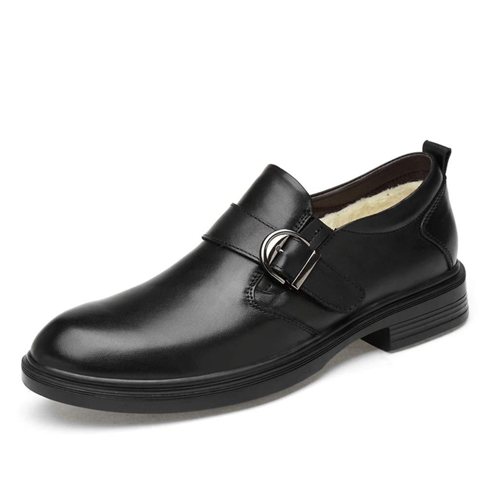 Ruanyi Business Oxford Casual Classic Rostfrei Metallschnalle Dekoration Faux Fleece Inside Slip On Freizeit große Größe Schuhe für männer (Farbe   Schwarz, Größe   36 EU)  | Louis, ausführlich