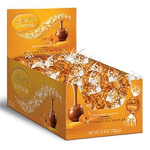 Lindt LINDOR Caramel Milk Chocolate Truffles 60 Count (Lindt Wine)