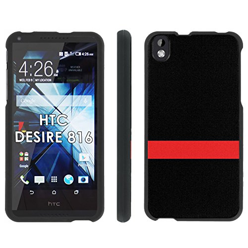 HTC Desire 816 Phone Cover, The Red Line - Mobiflare Black Slim Guard Armor Phone Case for HTC Desire 816