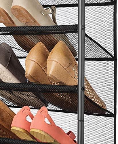 THE BEST DAY Shoe rack 6-Tier shoes rack Hanging Shoe Storage rack iron shoes rack Over The Door Shoe Organizer
