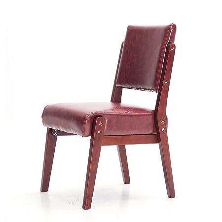 Silla Plegable para el hogar sillón Ocio Mesa y Silla Retro PU ...