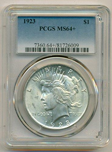 (1923 Peace Silver Dollar MS64+ PCGS)