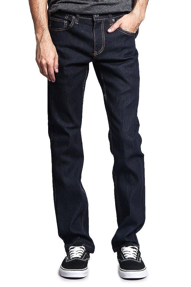 Victorious Men's Slim Fit Unwashed Raw Denim Jeans DL980