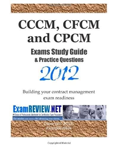 cccm cfcm and cpcm exams study guide practice questions 2012 rh amazon com cpsm study guide 2 cpsm study guide free