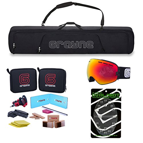 Grayne Complete Snowboard Bag, Accessory and Tuning Kit New by Grayne
