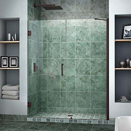 Cheap dreamline unidoor 50 51 in width frameless hinged for Discount frameless shower doors