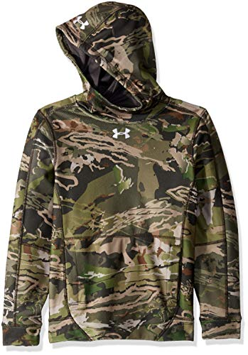Under Armour Boys' Zephyr Fleece Hoodie, Ua Forest Camo (940)/White, Youth Large by Under Armour (Image #2)