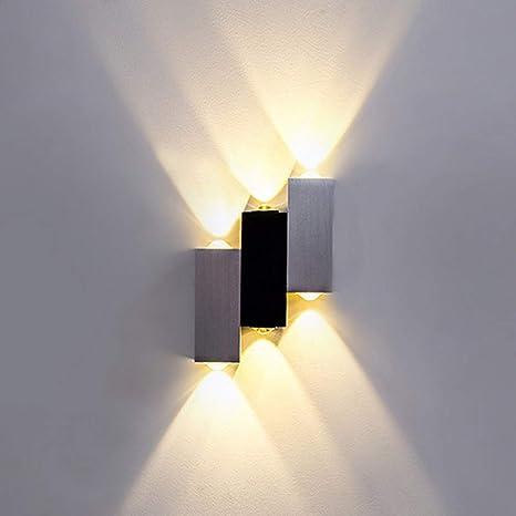 Lightess 6W LED Applique da Parete Interno Moderno Lampada da Parete in  Alluminio per Camera da Letto Soggiorno Bianco Caldo