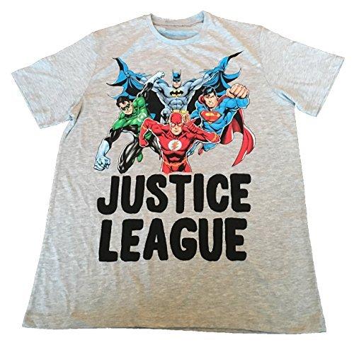 JUSTICE LEAGUE BATMAN,SUPERMAN,FLASH,GREEN LANTERN) - ACTION - OFFIZIELLES HERREN T-SHIRT
