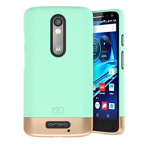 Motorola Droid TURBO 2 Case, Encased (SlimSHIELD Edition) Ultra Slim Cover (full coverage) Hybrid Slider Shell (Mint Green) (Slim Ultra Hardshell)