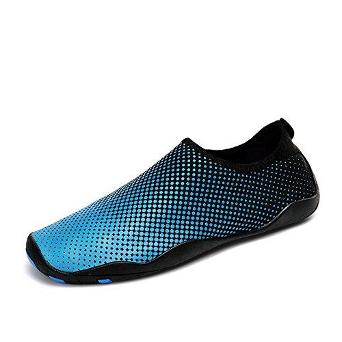 zapatos buceo de respiración de zapatos gradual playa piel 1 secado de rápido natación zapatos Zapatos buceo azul la suave Lucdespo rojos y rafting rafting zRwxq050fZ