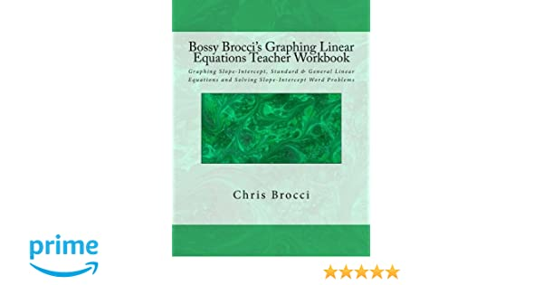 Amazon.com: Bossy Brocci's Graphing Linear Equations Teacher ...