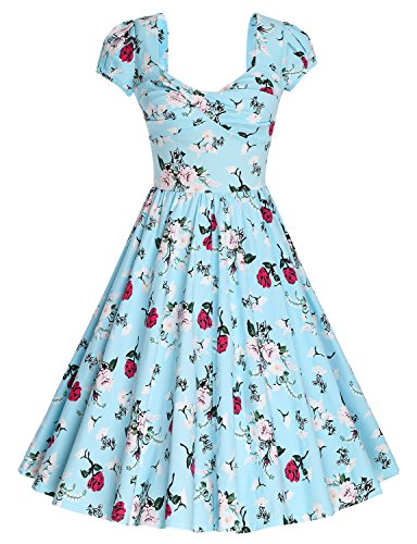 MUXXN Womens Rockabilly Housewife Vintage