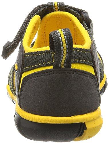Keen Seacamp Ii Cnx - Sandalias de Senderismo Unisex Niños Multicolor (Raven/Yellow)