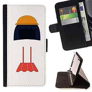 King Case - FOR Sony Xperia M2 - harvest is luck - Prima caja de la PU billetera de cuero con ranuras para tarjetas, efectivo Compartimiento desmontable y correa para la mu?eca