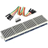 WGCD MAX7219 Dot Matrix Module 4 in 1 Display Module for Arduino Microcontroller with 5 Pin Line