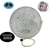 Fan Mist Kit- Outdoor Cooling Fan Misting System- Do It Yourself Misting System- Made in USA with Brass/Stainless Steel Nozzles